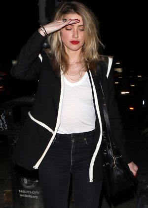Amber Heard Night Out at No Name Club in Los Angeles
