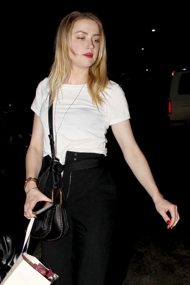 Amber Heard Night Out at The Hotel Cafe in Hollywood