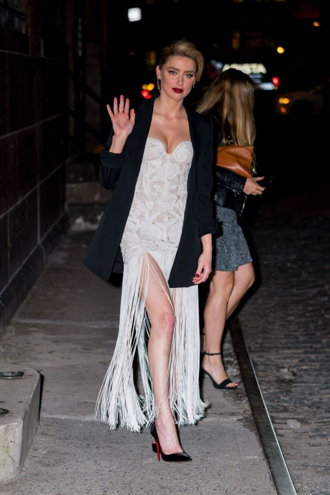 Amber Heard - Out and about in NYC