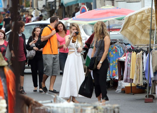Amber Heard in White Dress -04