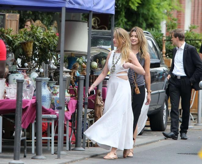 Amber Heard in White Dress -11