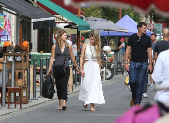 Amber Heard in White Dress -18