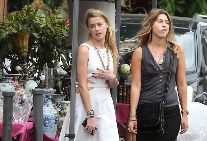 Amber Heard in White Dress -22