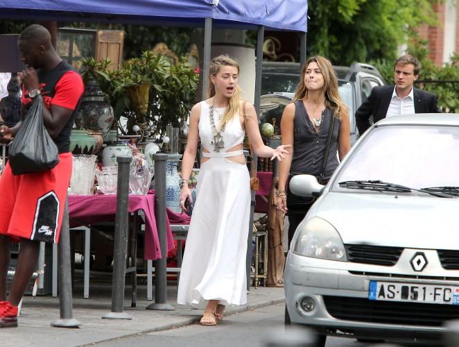 Amber Heard in White Dress -24