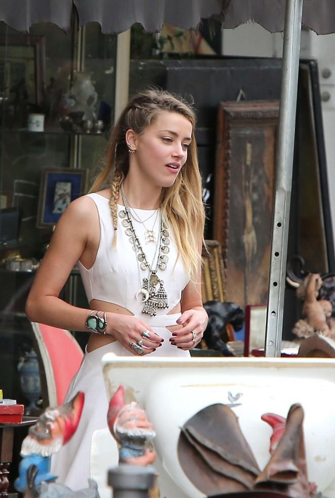 Amber Heard in White Dress -32