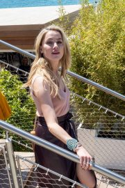 Amber Heard - Out for lunch at La Plage du Martinez in Cannes