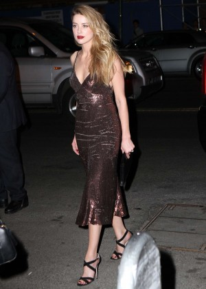 Amber Heard - Out in the evening in NYC