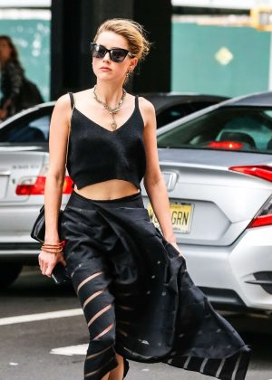 Amber Heard - Out in West Village in NY