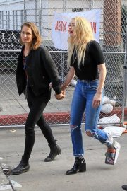 Amber Heard - Out with new girlfriend Bianca Butti at the Women's March in LA