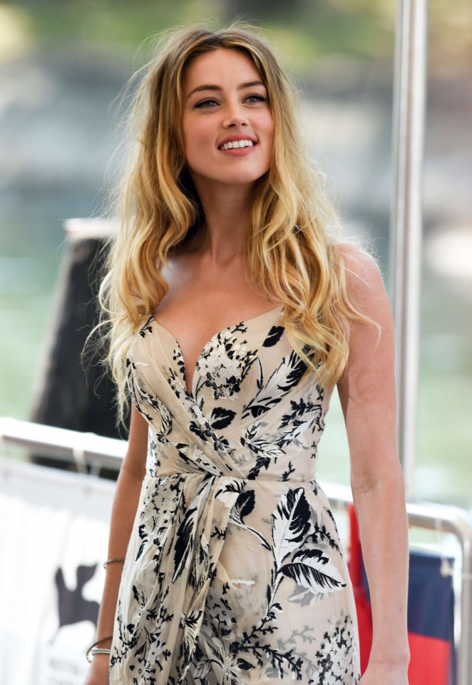 Amber Heard - Photocall at 72nd Venice Film Festival