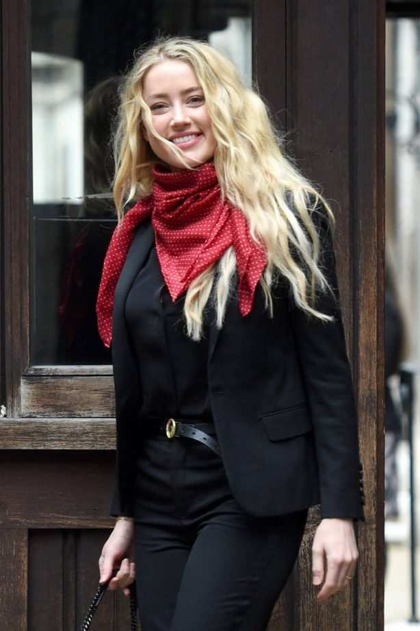 Amber Heard - Pictured at Royal Courts of Justice in London