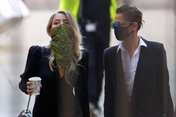 Amber Heard - Pictured at The High Court In London