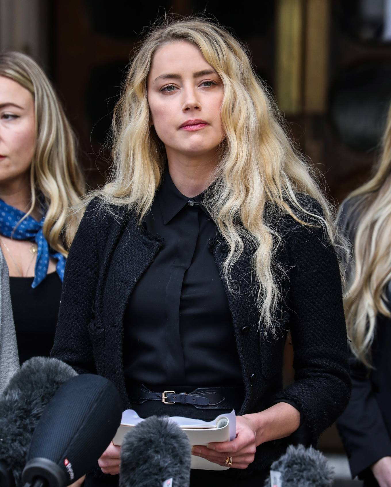 Amber Heard - Pictured while giving A Statement Outside The Royal Courts Of Justice