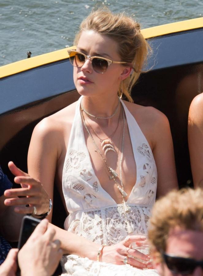 Amber Heard - Promoting 'Magic Mike XXL' in Amsterdam