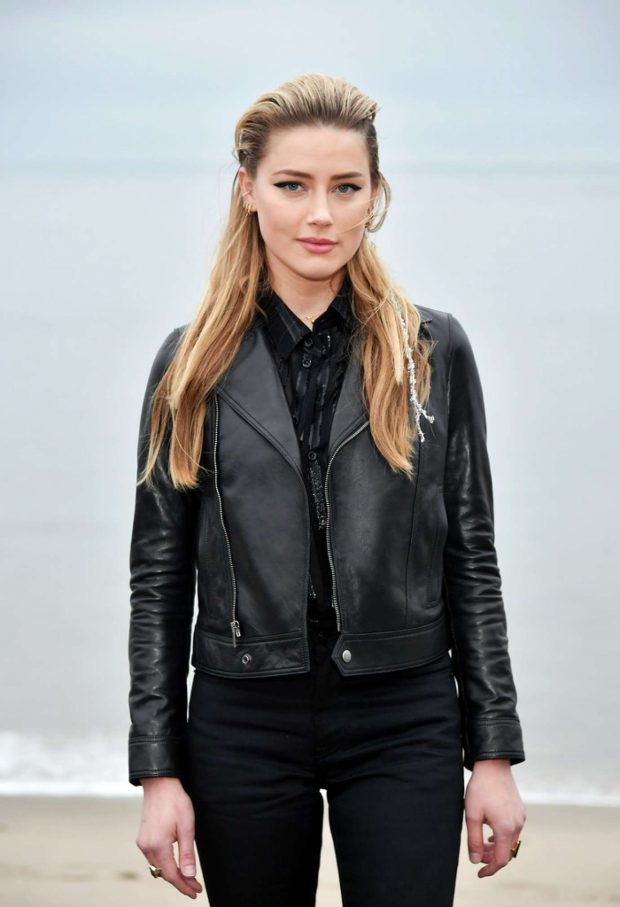 Amber Heard - Saint Laurent Mens SS 20 Show photocall in Malibu