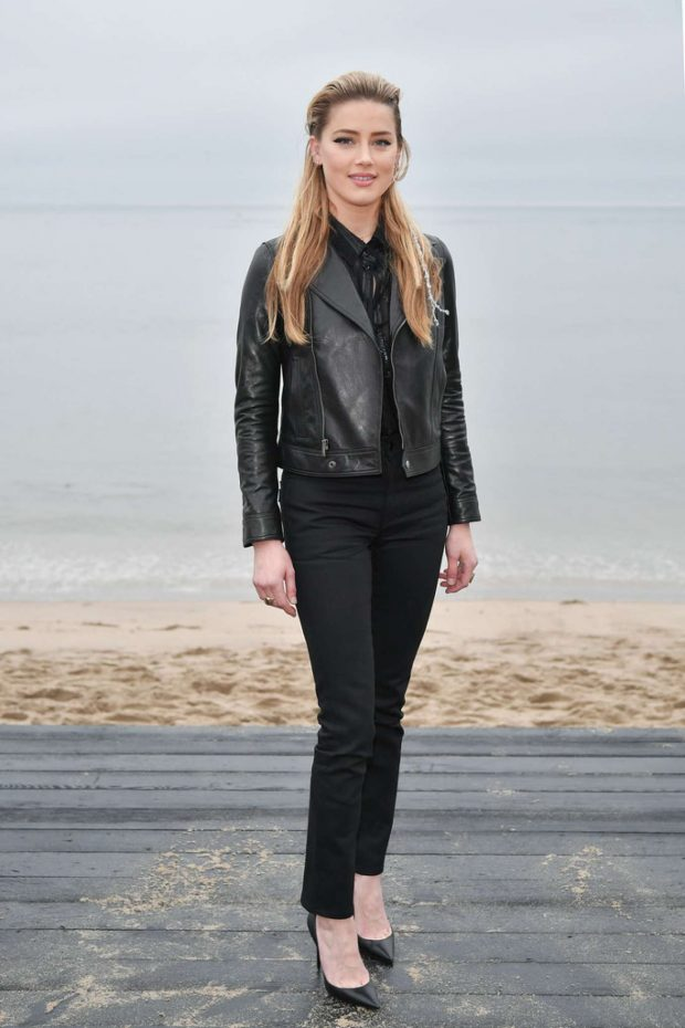 Amber Heard: Saint Laurent Mens SS 20 Show photocall in Malibu -03