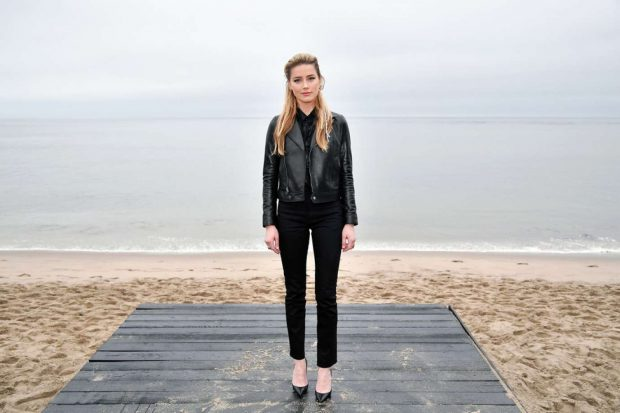 Amber Heard: Saint Laurent Mens SS 20 Show photocall in Malibu -04