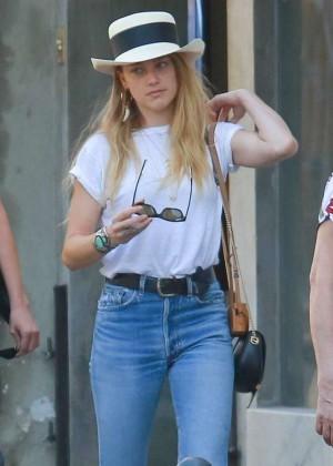 Amber Heard in Jeans Shopping in Rio
