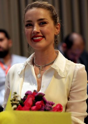 Amber Heard - Speaks to The Associated Press in Amman