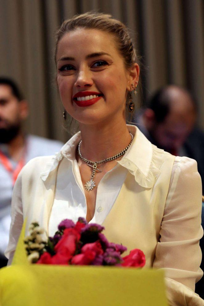 Amber Heard – Speaks to The Associated Press in Amman