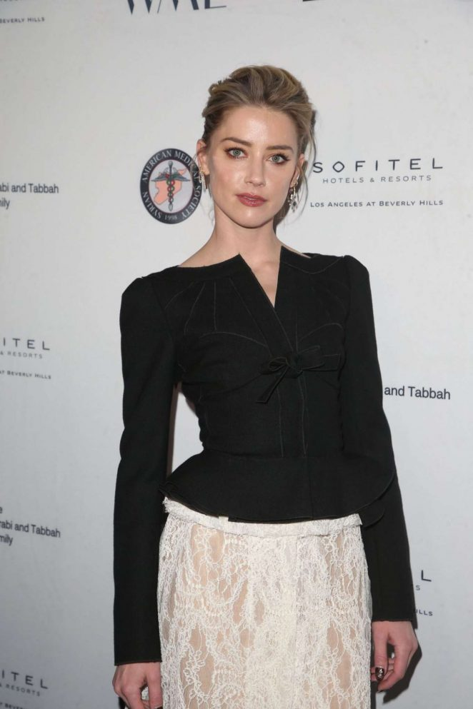 Amber Heard – Syrian American Medical Society Benefit in Los Angeles