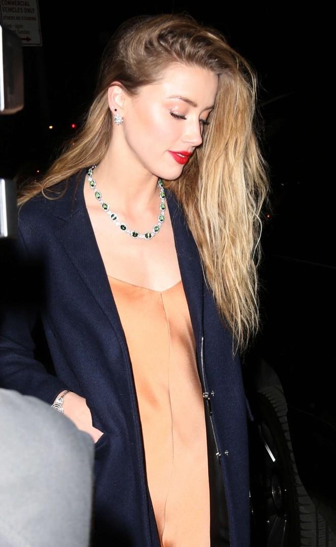 Amber Heard - Tiffany Blue Book Dinner in NYC