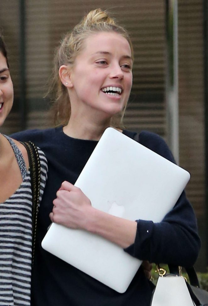 Amber Heard with friend out in Los Angeles