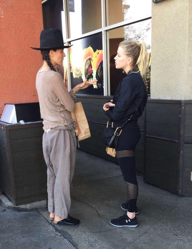Amber Heard with her ex-girlfriend Tasya Van Ree in LA