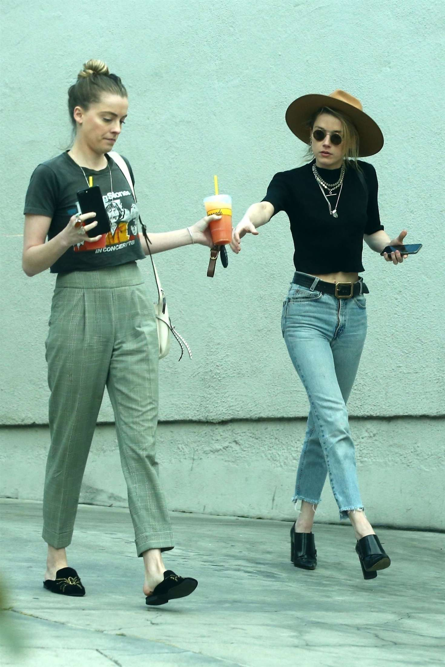 Amber Heard with her sister Whitney Heard at a restaurant in LA