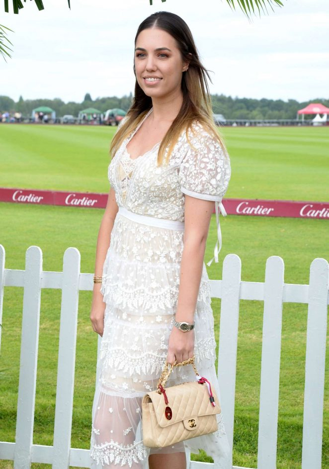 Amber Le Bon - Cartier Queens Cup Polo in Windsor