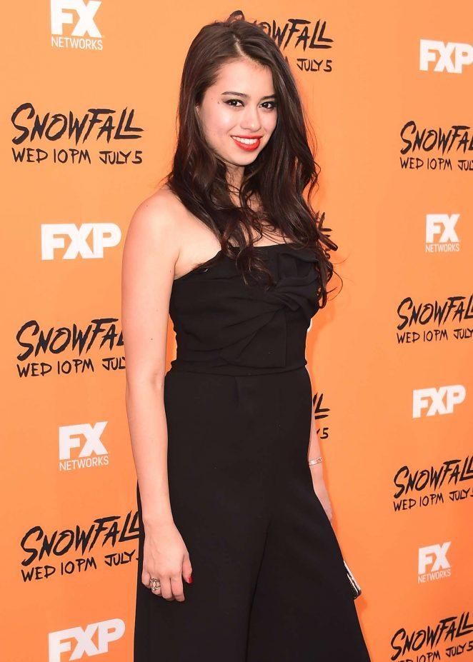 Amber Midthunder - 'Snowfall' Premiere in Los Angeles