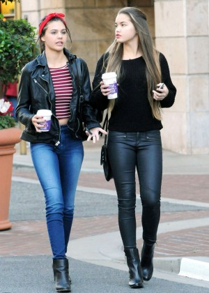 Amber Montana and Paris Berelc out in Glendale