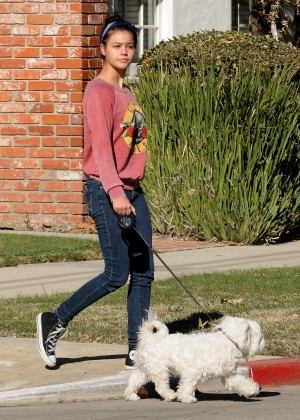 Amber Montana: Walking her dog Elvis -15