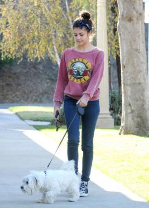 Amber Montana: Walking her dog Elvis -16