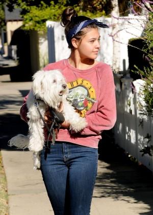 Amber Montana: Walking her dog Elvis -23