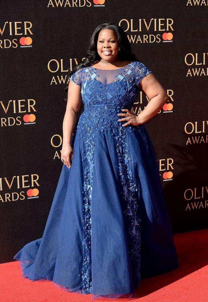 Amber Riley - 2017 Olivier Awards in London