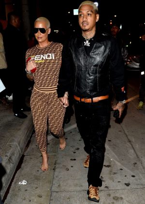 Amber Rose and Alexander Edwards - Leaving the Delilah Restaurant in West Hollywood