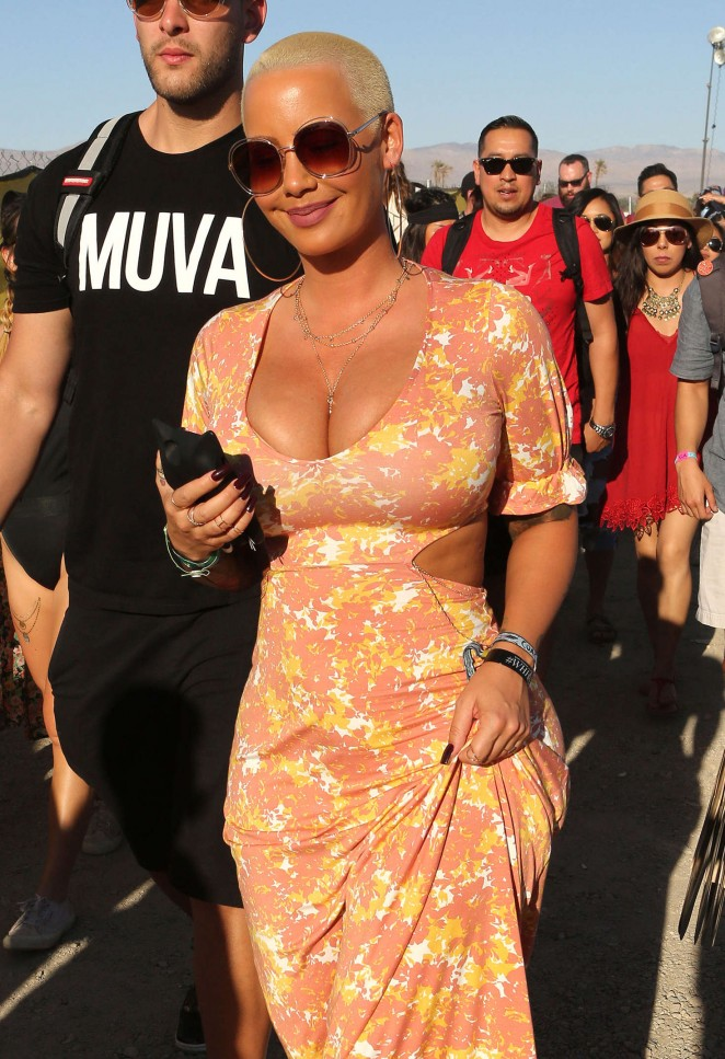 Amber Rose - Coachella Valley Music and Arts Festival 2016 in Indio day 3