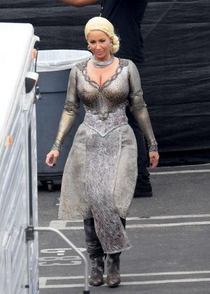 Amber Rose - Filming DWTS in Los Angeles