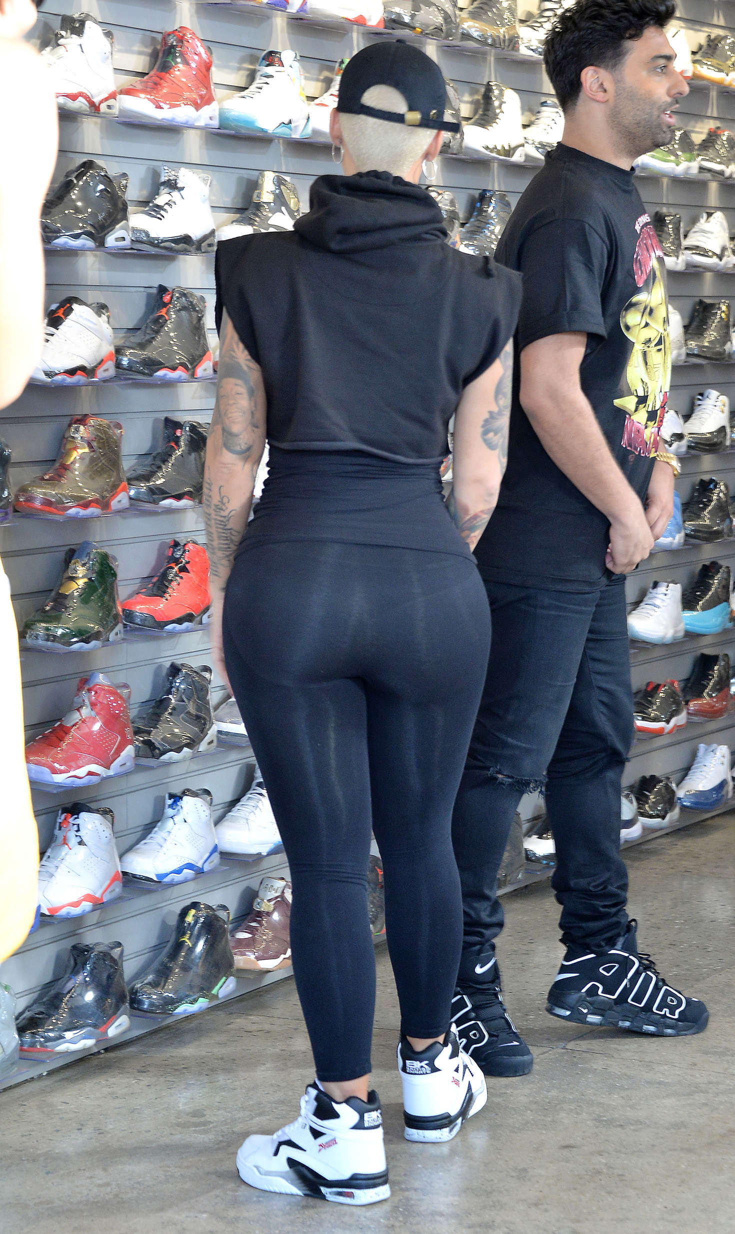 amber rose in spandex shopping in west hollywood