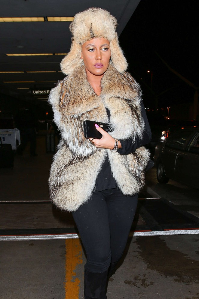 Amber Rose - LAX Airport in LA