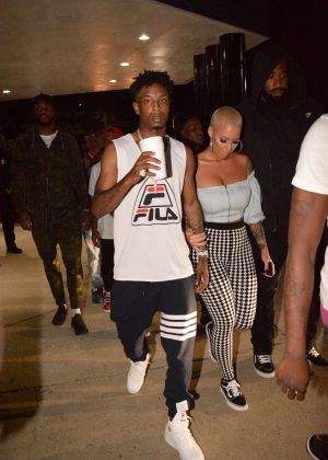 Amber Rose night out in Atlanta