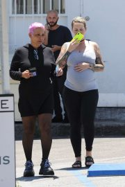 Amber Rose - Out for lunch with her mother in Sherman Oaks