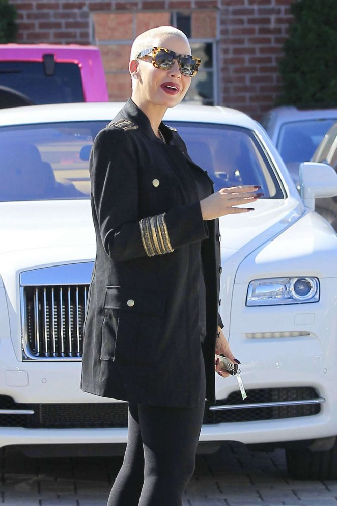 Amber Rose out in West Hollywood