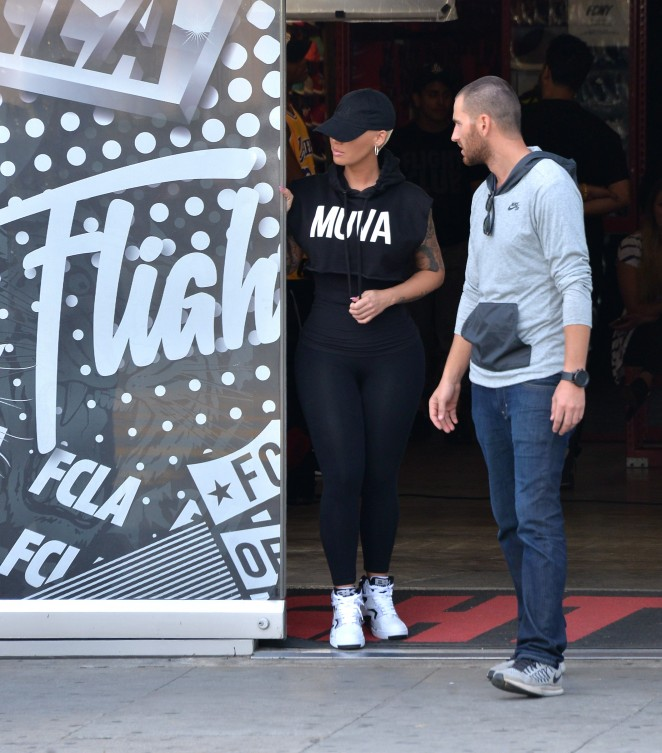 Amber Rose Shopping in West Hollywood -06