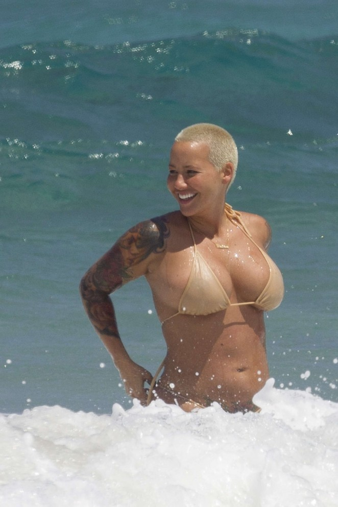 Amber Rose in Bikini -01