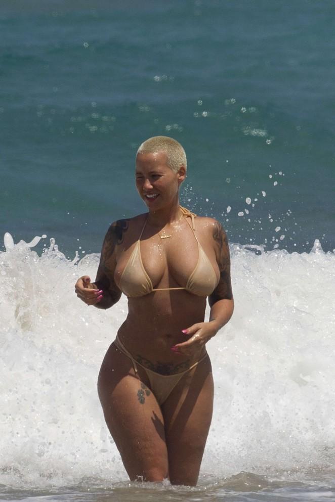 Amber Rose in Bikini -07