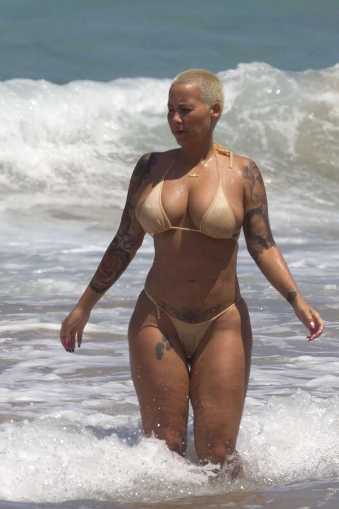 Amber Rose in Bikini -09