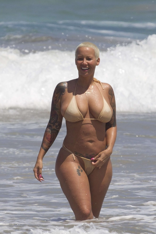 Amber Rose in Bikini -17