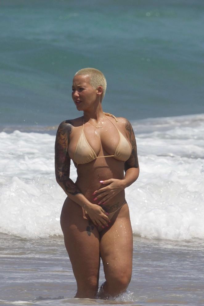 Amber Rose in Bikini -26